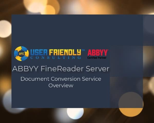 ABBYY FineReader Server Document Conversion Service Overview