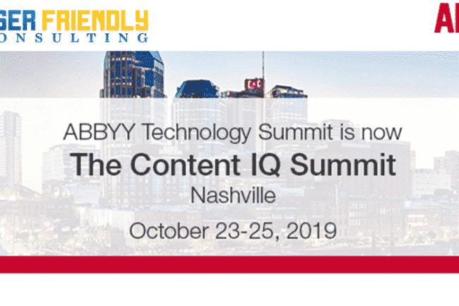 ABBYY Content IQ Summit 2019