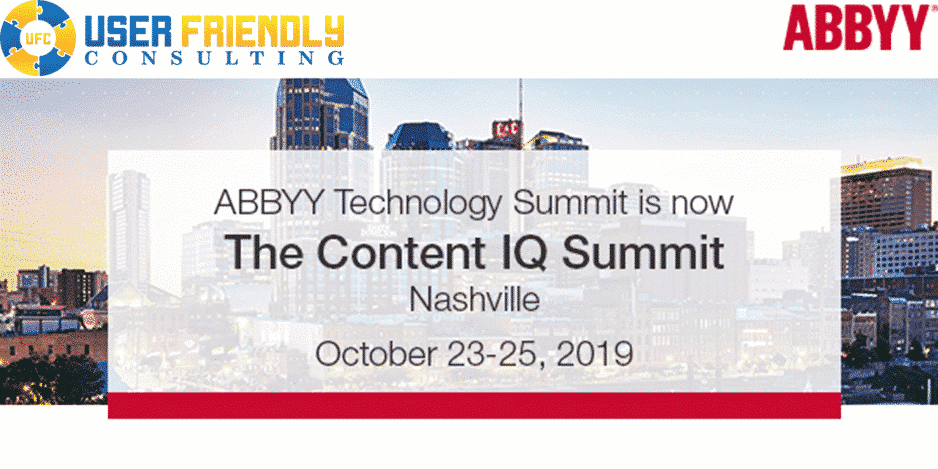 ABBYY content iq summit 2019 poster