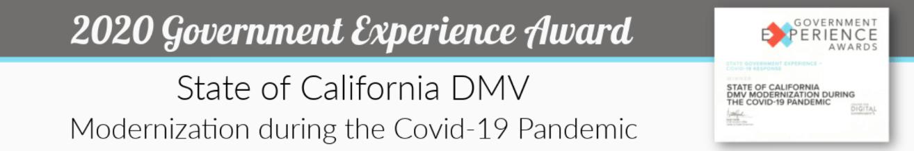 DMV Award Certificate