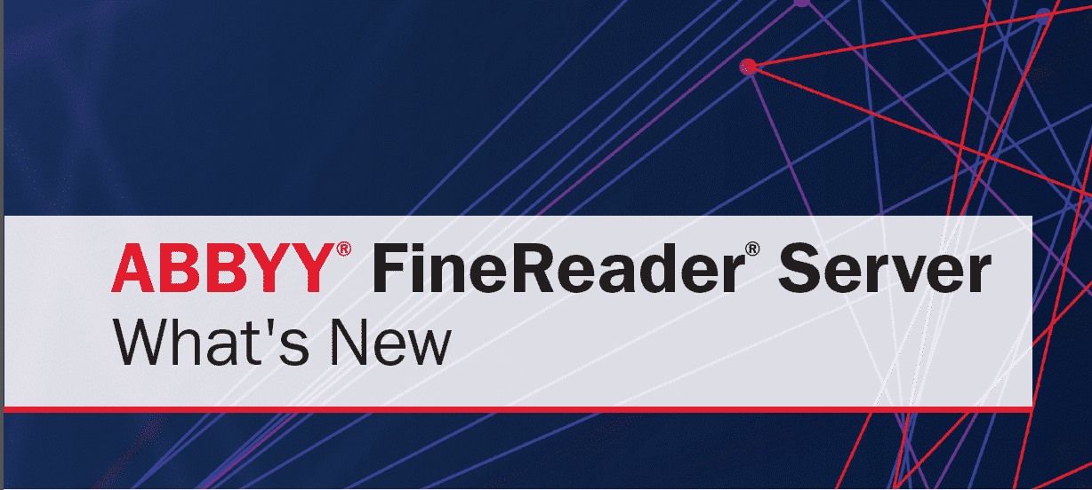 Cover image for ABBYY FineReader Server, logo provided by ABBYY