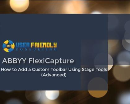 Thumbnail for FlexiCapture-Adding Custom Toolbar video