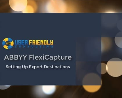 Thumbnail for ABBYY FlexiCapture - Setting Up Export Destinations video