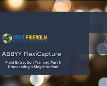 Thumbnail for ABBYY FlexiCapture - Field Extraction Training Part 1 video