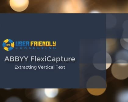 ABBYY FlexiCapture - Extracting Vertical Text